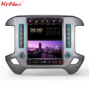 "KiriNavi Vertical Screen Tesla Style android 7.1 12.1"" Car Radio For Chevrolet Silverado and for Sierra GPS Navigation 2014-2018"