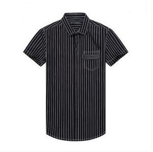 Cheap high quality apparel 100% cotton business slim fit stripes twill dress mens shirt manufacturer