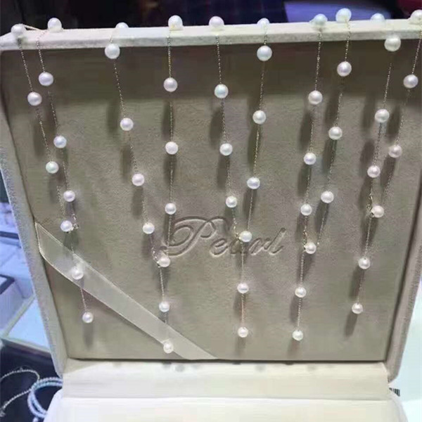 Best seller Fashion Classic Glamorous Natural Pearl with Two Wearing 18K Gold Necklaces Manufacturer Wholesale
