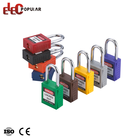 Top Security Steel Plated Chromium Shackle Plastic Body Safety Padlocks Candado