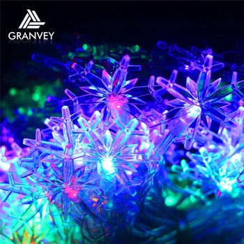 2018 New Year Snow Falling Led Christmas Lights With Solar Power ...