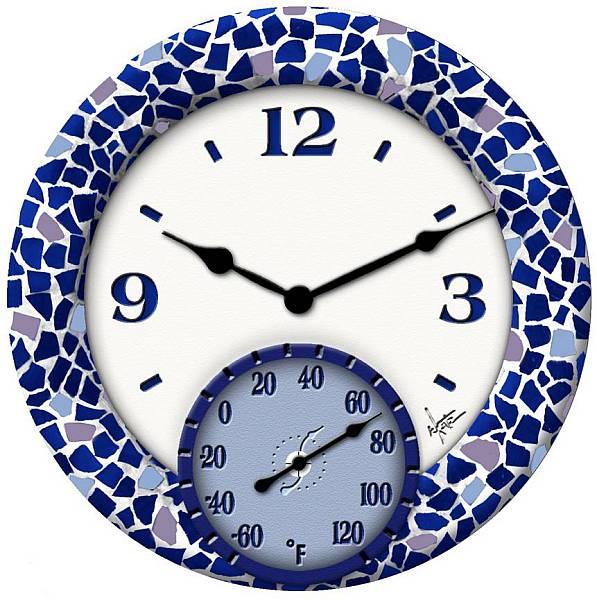 วินเทจที่กำหนดเองpolyresinตกแต่งโมเสคแก้วแบรนด์ชื่อนาฬิกาแขวน