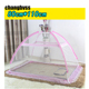 Foldable Toddler Baby Crib Mosquito Net Kids Infant Baby Safty Mosquito Netting Crib Bed Playpen Play Tent Blue Pink Color