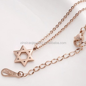 Rose gold mini tiny stainless steel top quality custom star of david rose gold mini tiny stainless steel top quality custom star of david pendant necklace for women aloadofball Image collections