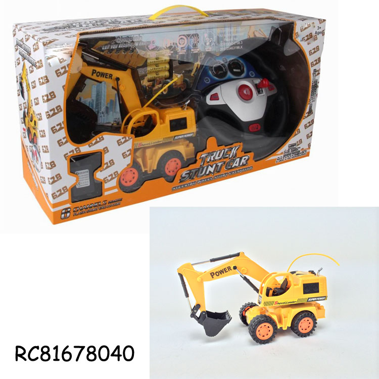 New toys! 6CH radio control rc construction truck toy with light and music from Chinese manufacturer RC81678040