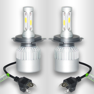 2017 36w 8000lm car led headlight h7 h4 9005 9003 9007 hi/lo bean bulbs with cob chip h4 headlight bulb for universal cars
