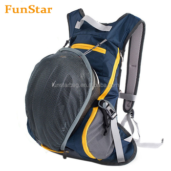 Outdoor Athletic Sports Daypack Backpack Shoulder Belt Bag For Biking Cycling Traveling Camping Hiking with Helmet Net