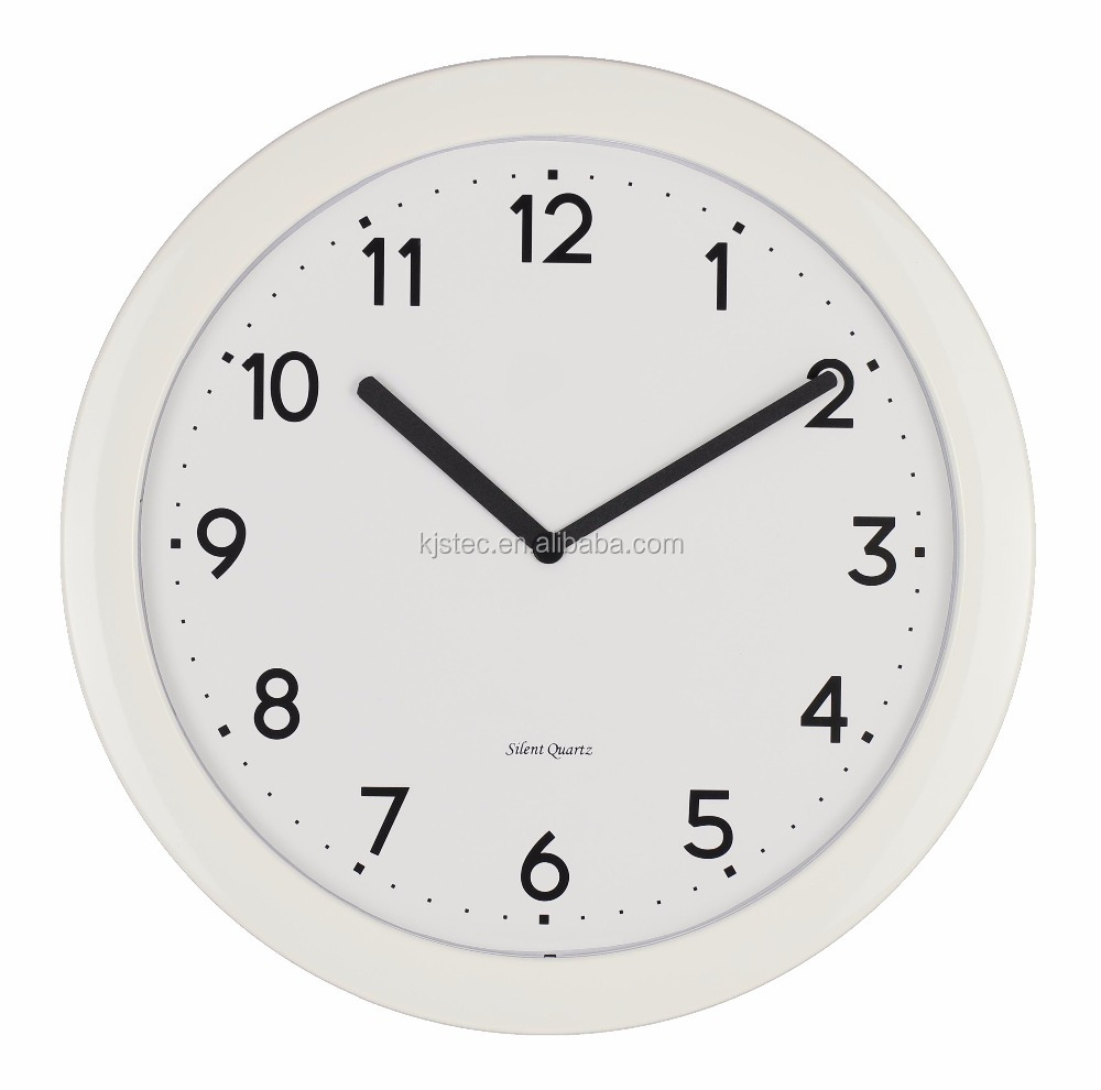 black,white and other color optional quartz wall clock machine