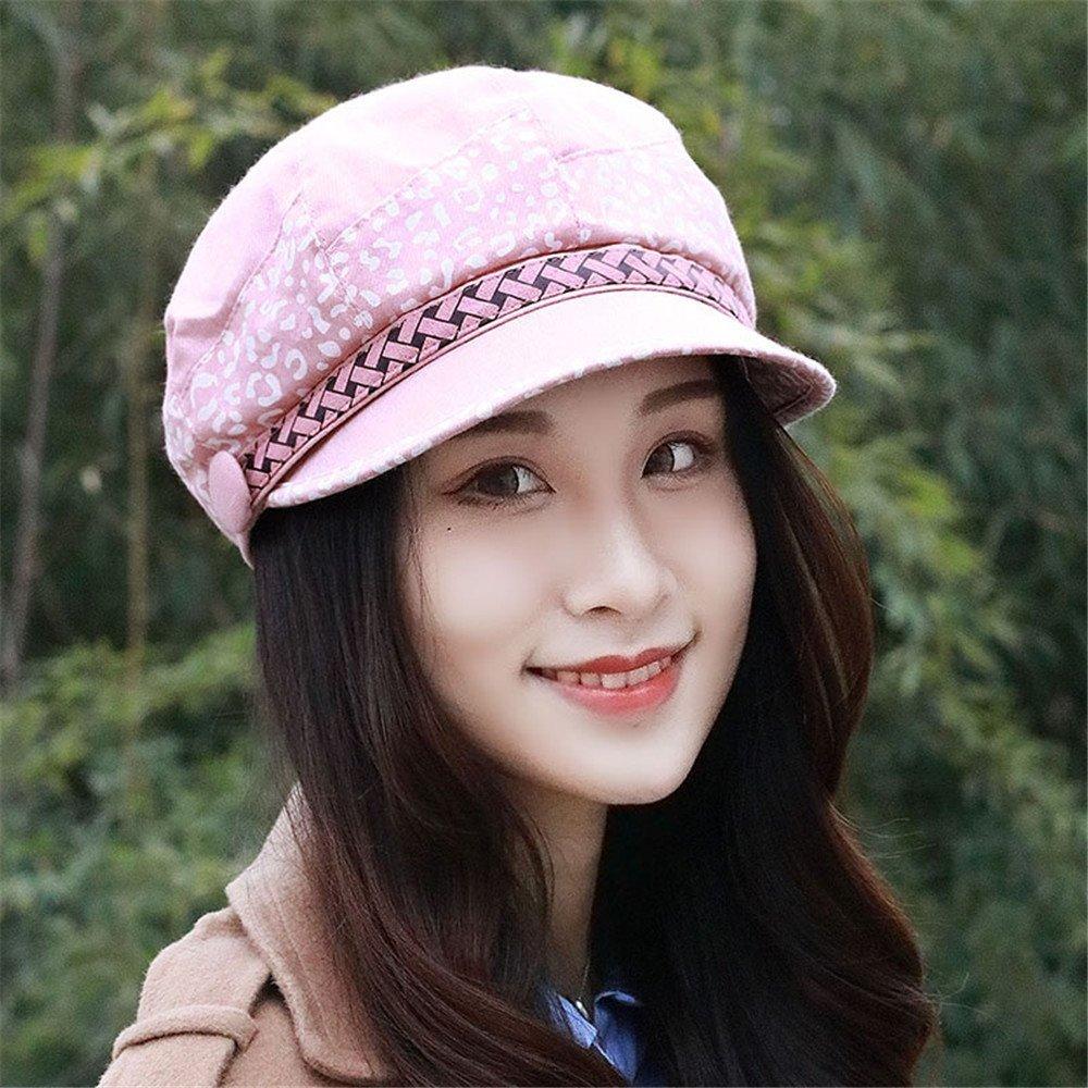 126560416f7 Get Quotations · Women s fashion ladies hat female fall color Beret peaked  cap octagonal cap painter cap breathable hat
