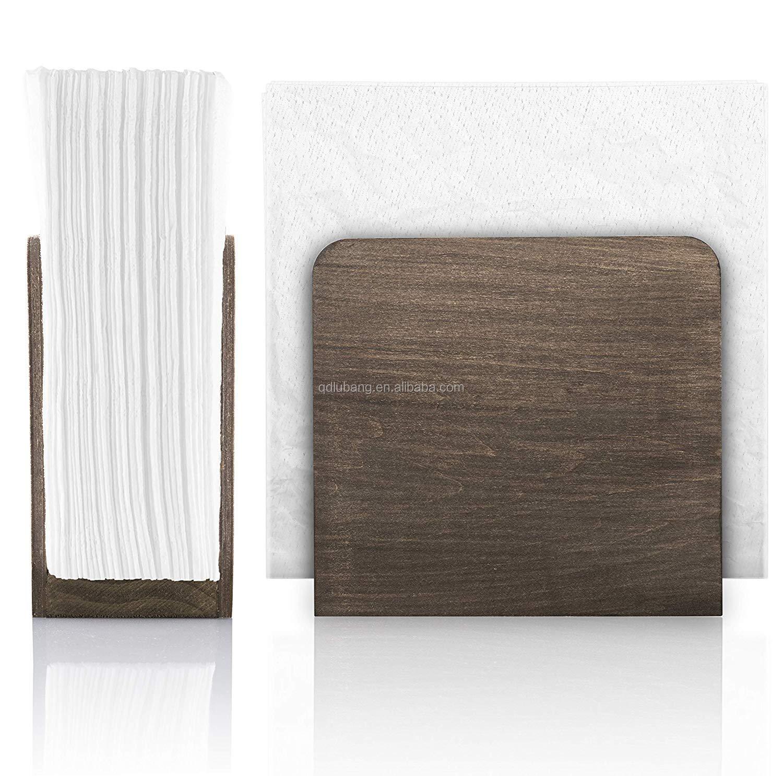 Kitchen Napkin Dispenser Rustic Wooden Napkin Holder For Tables Buy Kitchen Napkin Dispenser Wooden Napkin Holder Napkin Holder Product On Alibaba Com