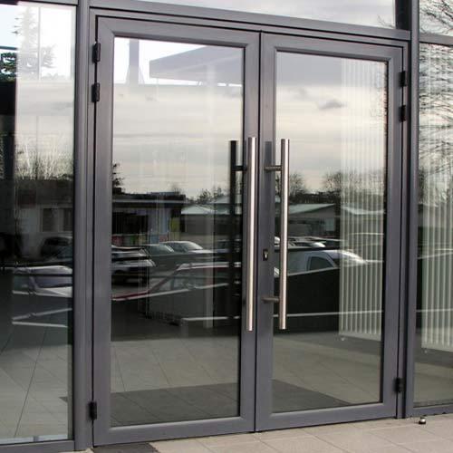 Alüminyum cam döner kapı ses geçirmez cam kapi ve pencere sistemi