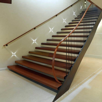 Indoor Iron Straight Staircase With Metal Frame And Wood Step   Buy Indoor  Straight Staircase,Steel Wood Staircase,Iron Straight Staircase Product On  ...