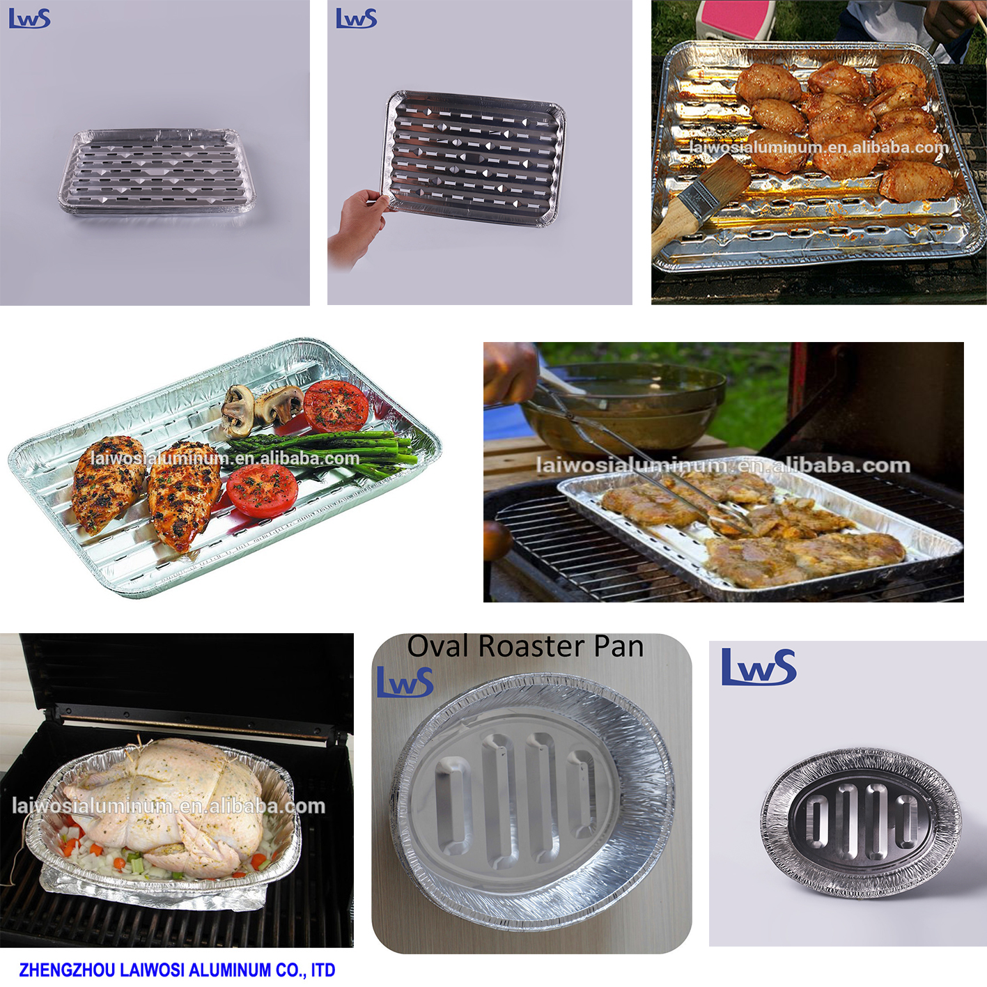 Disposable Aluminum Turkey Pan Foil Tray For Oven