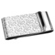 New custom engraved metal silver art money clip