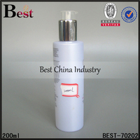 200ml empty special lotion sprayer pearl white pet plastic bottle iran