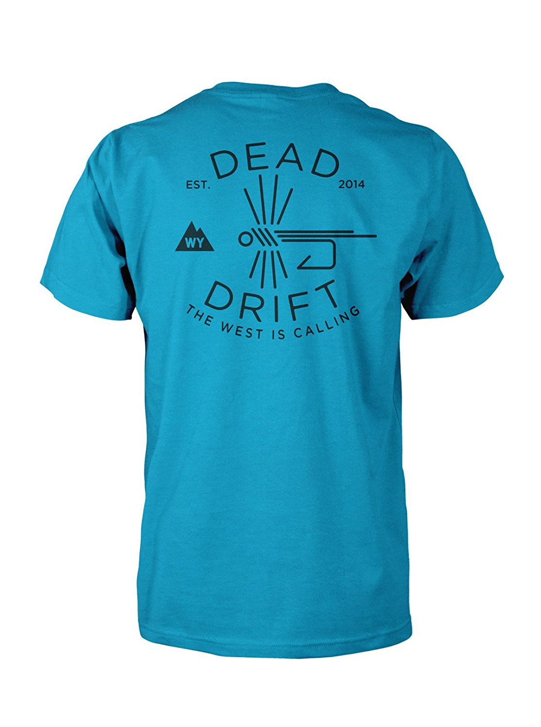 d6a463ae Get Quotations · Dead Drift Fly Hooked Logo Fly Fishing T-shirt