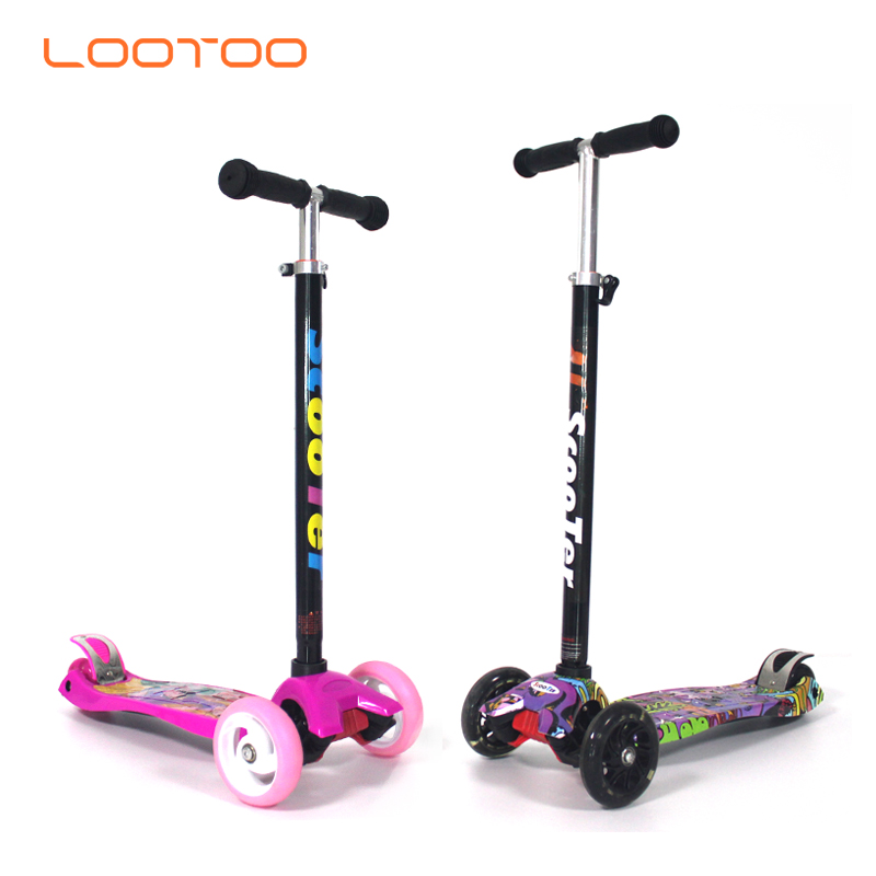 Wholesale factory cheap price new fashion plastic folding mini 3 wheels pedal kick kids scooter for sale