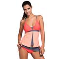 Colorblock Tankini Skort Bottom Swimsuit women new 2016 Sexy summer Bikini Beach wear swimwear bathing suit