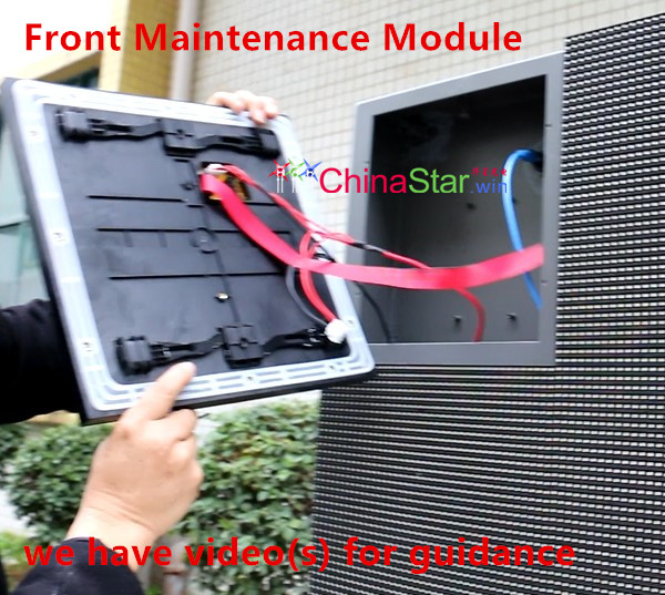 Front Maintenance module LED screen front open module LED sign Front Service LED display