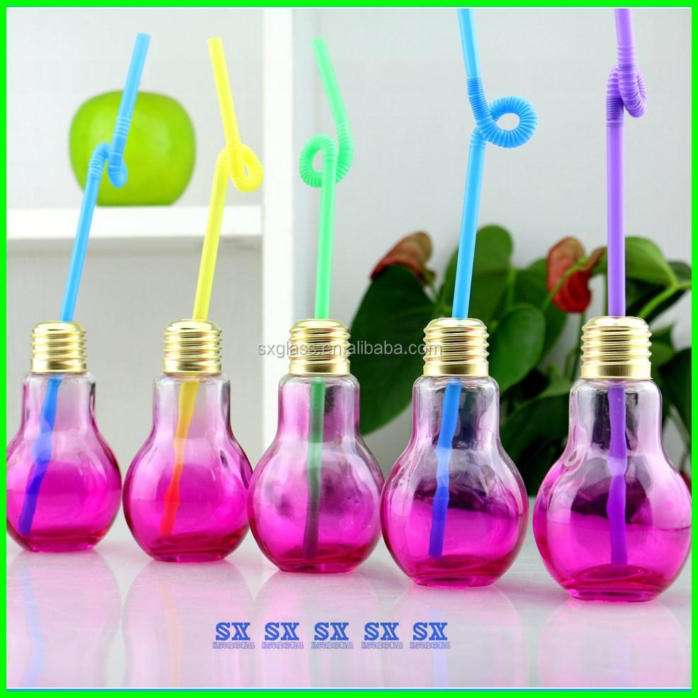 300ml 400ml 840ml Glass Lamp Bulb Shaped Bottle Juice Usage - Buy ... for Lamp Bottle Juice  195sfw