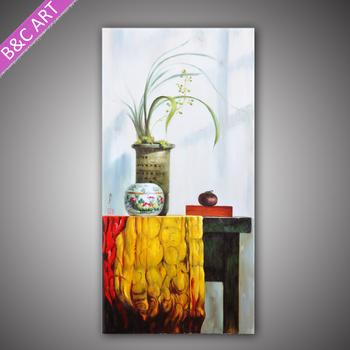 Pop Art Flower Vase Painting Designs Clay Handmade Oil Painting