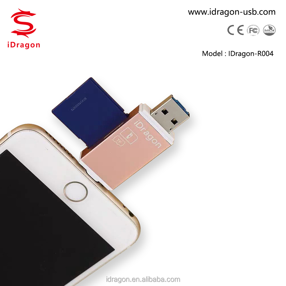 Usb2.0 all in 1 card reader and usb hub micro usb for iphone6