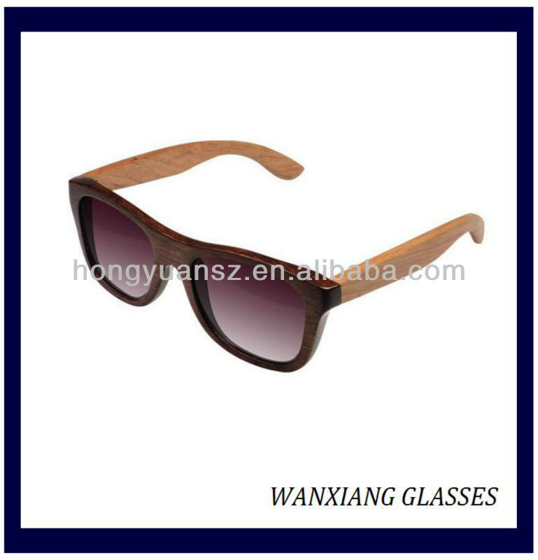 Hot Selling Latest Sunglasses 2013 Big Frame Wooden Ladies Sun glasses