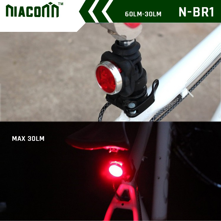 160 lumen USB sạc màu đỏ 3 wát Led Bike tail light