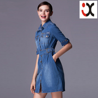 2015 new designer Europe fashion women jeans girls denim dresses JXQ054