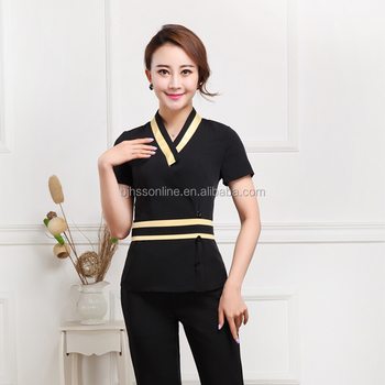 Beauty salon spa uniform new style female spa uniform for Spa uniform female