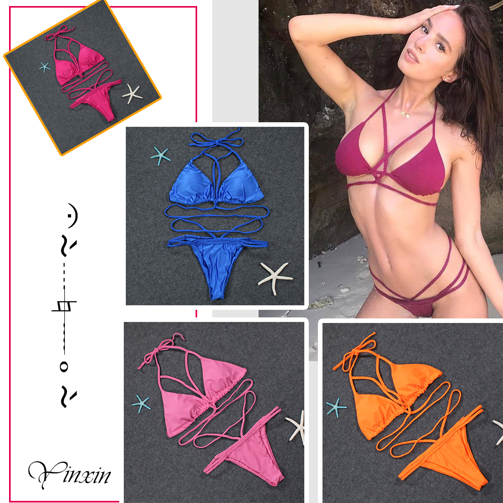 Custom Bikini 2018 Sexy Swimwear Women Split Swimsuit Brazilian Bikini Set Beachwear