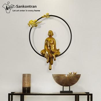 Handmade Metal Wall Sculpture Buddha Home Decor For Living Room Modern Goods Zen Statue Product