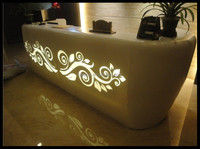 High quality faux marble reception desk,used reception desk nail salon reception desk