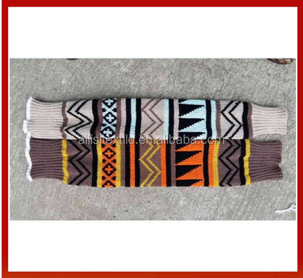 New Assorted Colors Woman Knitted Long Leg Warmer/New Pattern Woman Christmas Leg Warmers/Fashion Cable Knitted Boot Socks