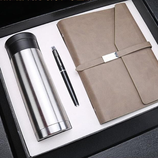 2017 Custom Logo Leather Notebook Set Corporate Gift Vip