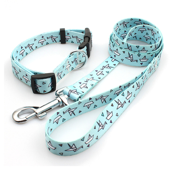 Personalized design free premium dog leash and collar sets