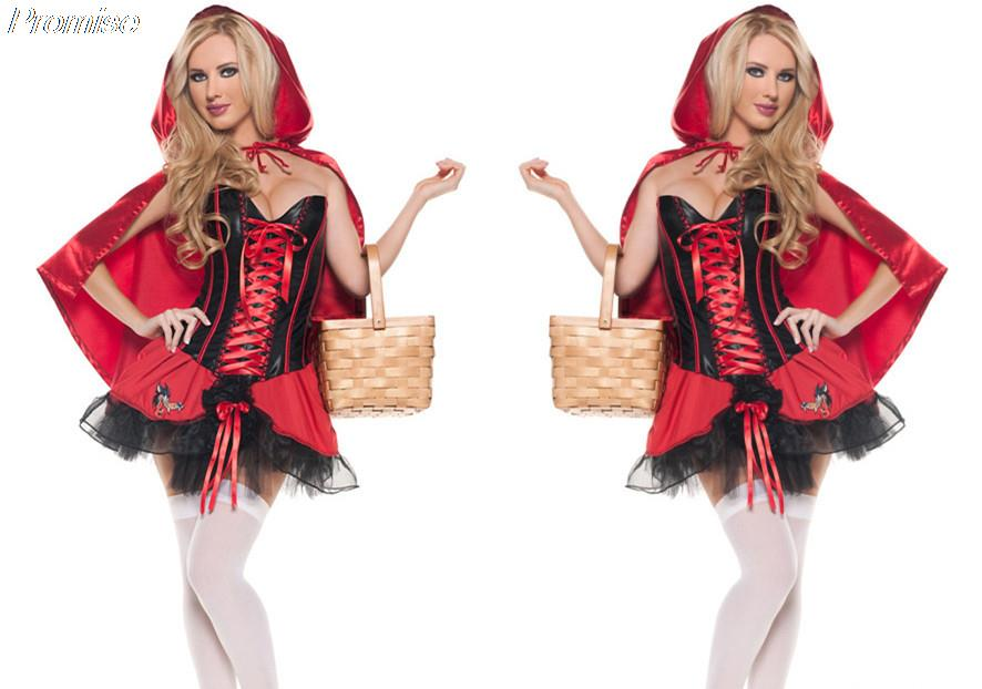 hot sale cosplay little red girl costume halloween costumes for women sexy party dress hotel nightclub - Sale Halloween Costumes