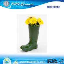 2017 new product boot vase resin flower pot for indoor or outdoor use