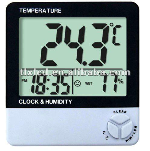 wall clock with thermometer,clock with digital humidity meter wall thermometer hygrometer,wall thermometer