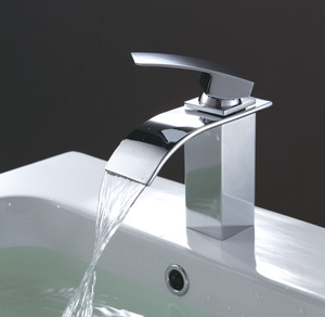 High quality waterfall brass chrome excellent water faucet brands uk cascade faucet
