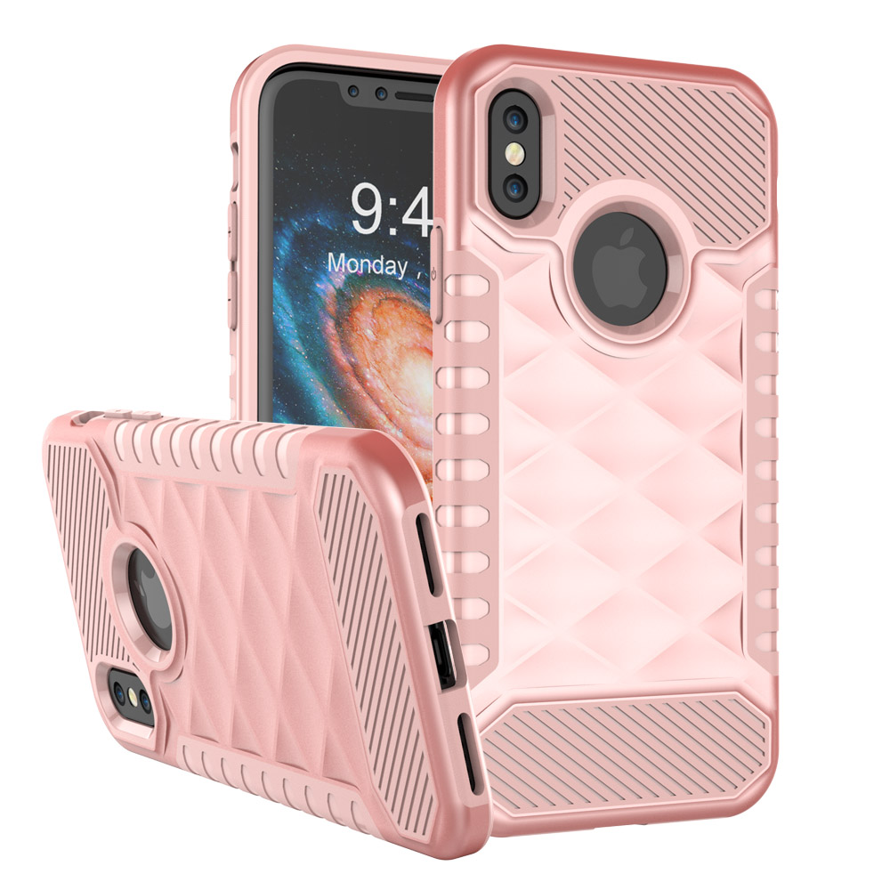 Phone Cover For iPhone X 5.8Inch Dirt-resistant Housing Anti-knock Case TPU+PC Shockproof Border Pouch CORNMI