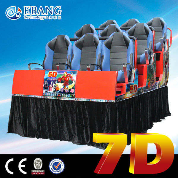 Supports up to 24 light guns guangzhou 7d movie theater