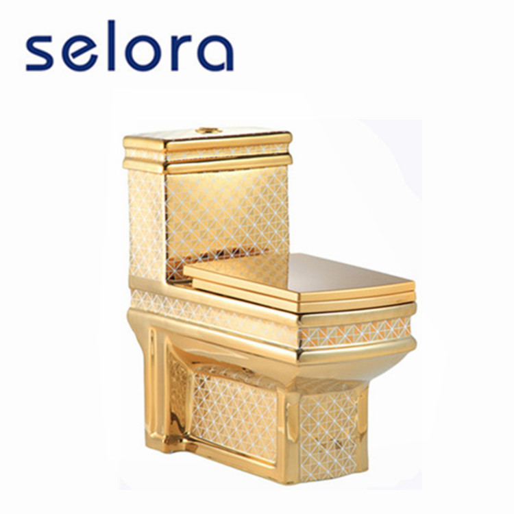 bathroom sanitary ware Middle East market washdown one piece golden ceramic toilet
