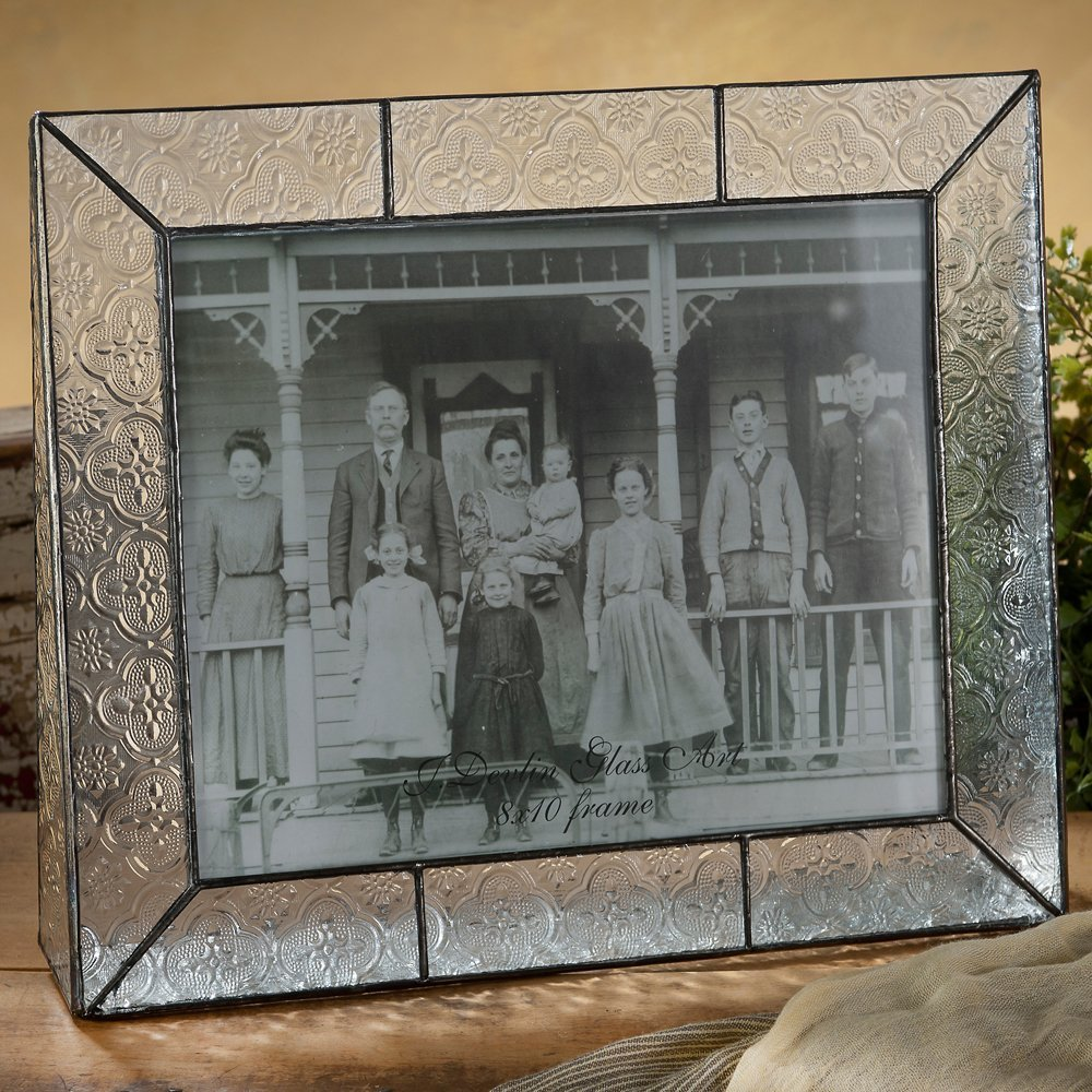 J Devlin Pic 126-81H Stained Glass 8x10 Picture Frame Photo Frame Vintage Home Decor Keepsake Gift Desktop