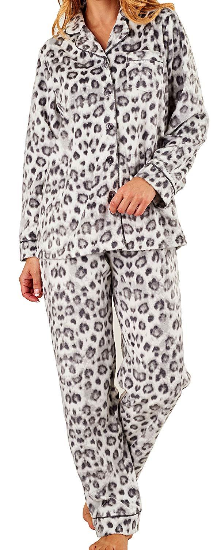 f7dd8b653f Get Quotations · Slenderella Ladies Luxury Animal Print Super Soft Fleece  Lounge Suit Pyjamas