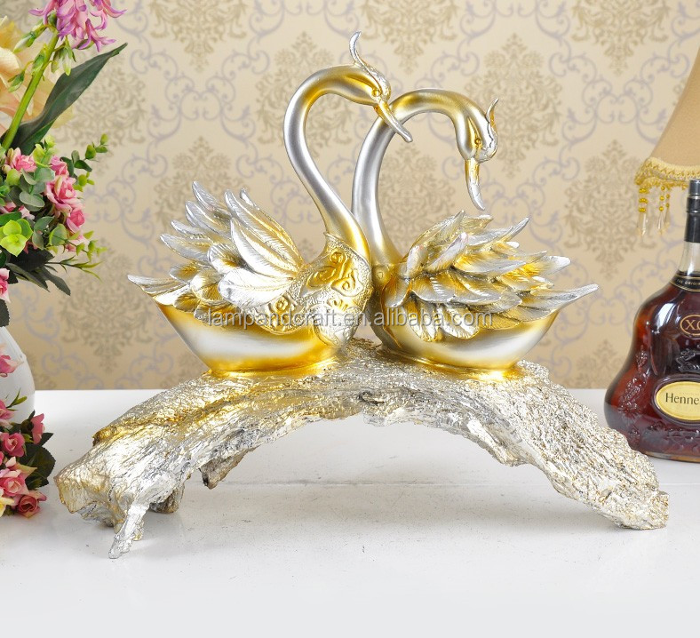 2016 nuevo dise o animales estatuas par de cisnes boda for Decoracion del hogar 2016