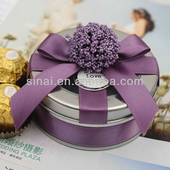 Candy Box Wedding Favors Gifts Packaginground Shape Tin Boxes