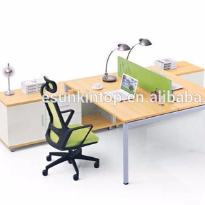 2 person workstation, office desk with partition (JO-4044)