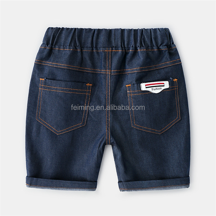 China factory supply modern stylish boy short outfit pants with Embroidery
