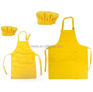 Cheap wholesale 100% white cotton apron for kids custom logo